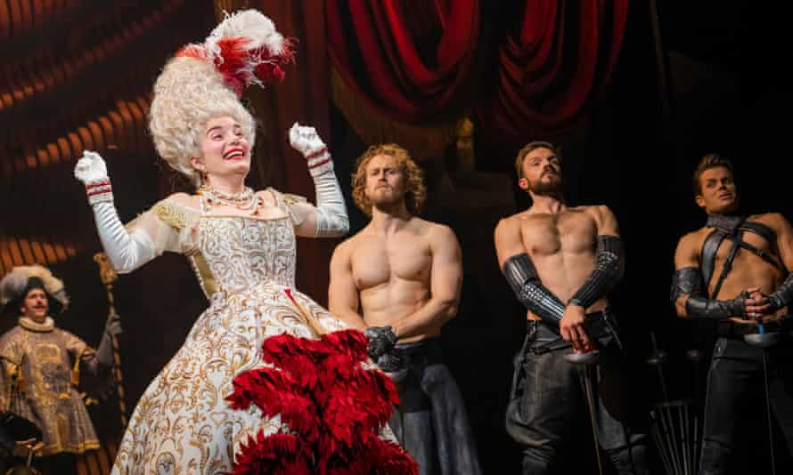 A scene from Andrew Lloyd Webber's musical Cinderella at the Gillian Lynne theatre in London.