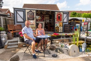 Unique category, Jim and Becky Mills (north-east Lincolnshire) with The Wagon The Wagon is a full-size replica of a North East Railway wagon. Designed and constructed by Jim using mainly scrap metal and other reclaimed materials, it was then lovingly painted by Becky. It took approximately 3 months to complete. The interior has been a joint effort, trying to maximise every inch of space with various memorabilia
