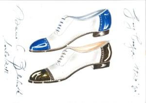 Best foot forward: some of Manolo Blahnik's men's shoe designs.