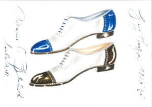 Best foot forward: some of Manolo Blahnik's men's shoe designs.