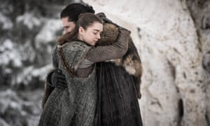 Like a big crowd-pleasing piece of fan fiction ... Jon and Arya reunited.