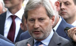 EU commissioner for Neighbourhood Policy and Enlargement Negotiations Johannes Hahn.