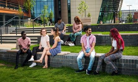 Students at De Montfort University, Leicester.