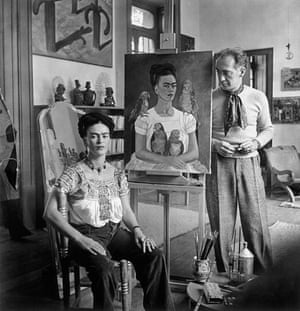 Frida with Nick in her Studio, Coyoacán 1941
