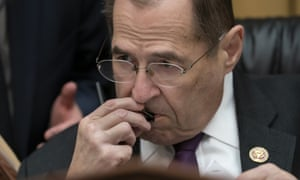 The House judiciary committee chairman, Jerrold Nadler,  listens during opening statements on Monday  in the first  hearing  on Robert Mueller's report