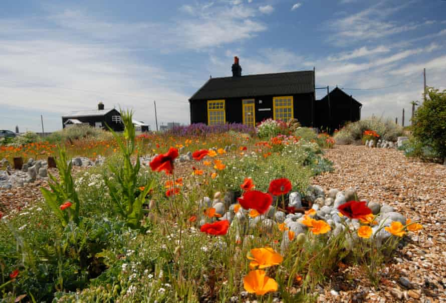 In this stony desert he set about conjuring an unlikely oasis … Jarman's Prospect Cottage in Dungeness.