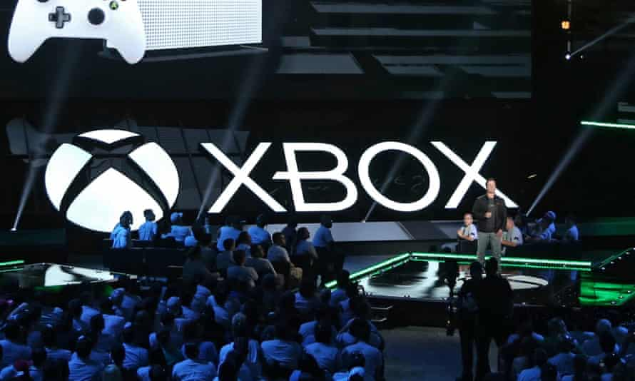 XBox presser at 2016 e3 Expo in Los Angelesepa05362628 Phil Spencer, head of Microsoft's Xbox, introduces the new Xbox One S at the Xbox press conference prior to the start of the E3 (Electronic Entertainment Expo) in Los Angeles, California, USA, 13 June 2016. The E3 expo introduces new games and gaming devices and is an anticipated annual event among gaming enthusiasts and marketers. EPA/MIKE NELSON