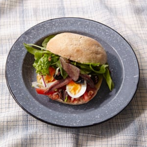 Clotilde Dusoulier's egg, tomato and anchovy sandwich.
