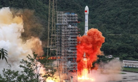 A Long March 3B rocket carrying the BeiDou-3 satellite lifts off in Sichuan province, China