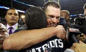 Tom Brady celebrates his fifth Super Bowl victory