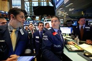 Traders work on the floor of the NYSETraders work on the floor of the New York Stock Exchange (NYSE) in New York City, U.S., November 8, 2016. REUTERS/Brendan McDermid