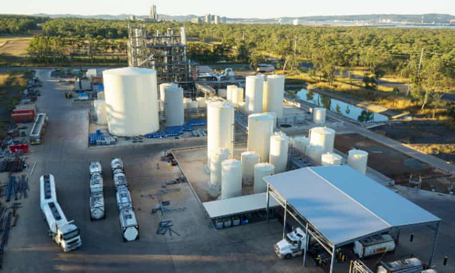 The existing oil refinery in Gladstone recycles waste lube oil back into base oil.