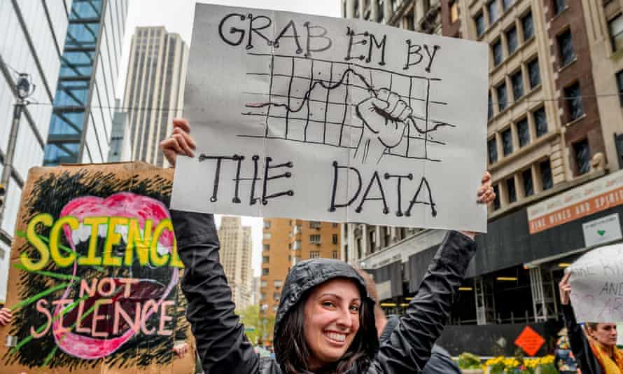 March For Science In New York City, 22 April 2017.