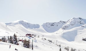 A view of the Whistler Blackcomb ski resort in Canada