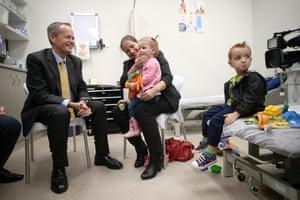 Bill Shorten at a doctor's surgery