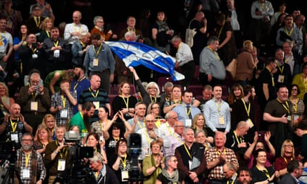 Supporters of the SNP.