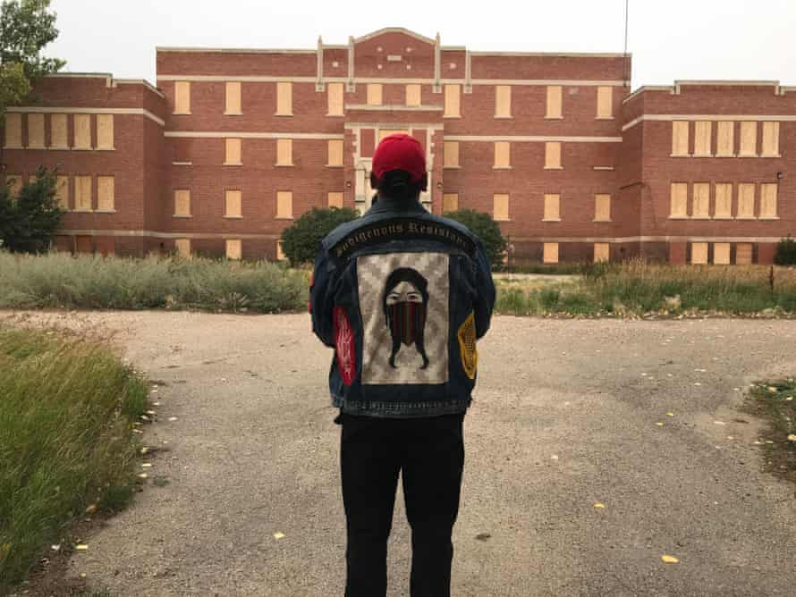 Drezus returning to the residential school he attended as a boy.