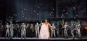 'That's so stupid it will probably be good' … McDermott's 2016 production of Akhnaten required the ENO cast to juggle.