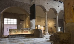 The interior of the Basilica di Santa Maria Antiqua.