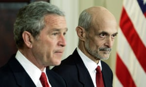Former Homeland Security secretary Michael Chertoff, right, is among 50 Republican national security officials to condemn Donald Trump in an open letter published on Monday 8 August.