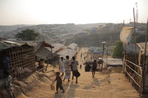 A view of the densely-populated Kutupalong refugee camp.