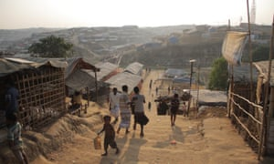 General view of Kutupalong refugee camp in Bangladesh where Rohingyan refugees currently seeking shelter.