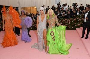 Kylie and Kendall Jenner, Jennifer Lopez and Donatella Versace