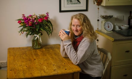 Raynor in the flat in Polruan, Cornwall, where she and Moth now live.