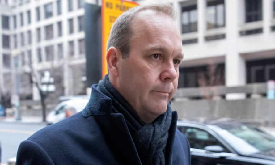Rick Gates arrives for his sentencing in Washington.