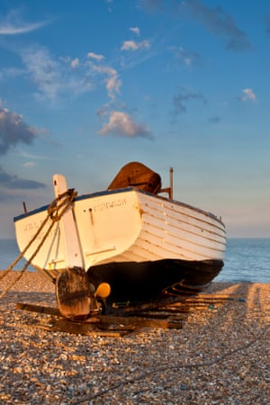 Fishing boat on Dunwich beach.