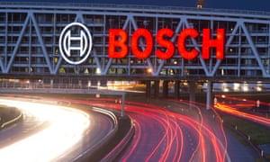 a big bright Bosch logo
