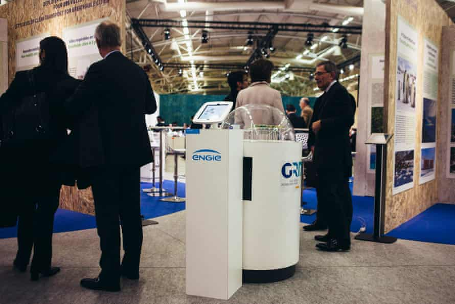 Engie stand at the Paris climate conference, Le Bourget, France