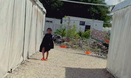 A child asylum seeker on Nauru island, in a still from Chasing Asylum