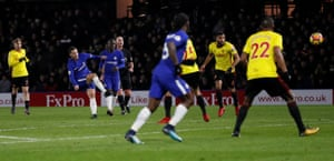 Eden Hazard scores a sublime equaliser.
