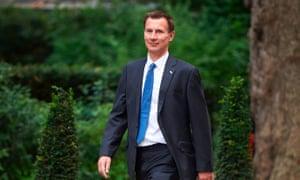 Britain's Health Secretary Jeremy Hunt