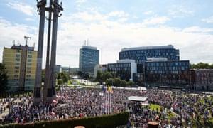 Protest against supreme court legislation in Gdańsk