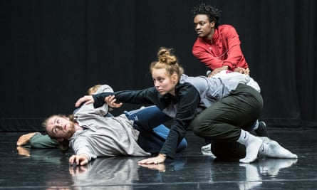 'How are the dreams and frustrations of younger generations going to be reflected?' … Work from a choreographic summer school at Sadler's Wells, with Anthony Matsena at rear.