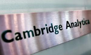 Cambridge Analytica sign