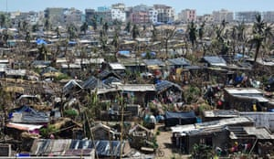 A general view of Puri, India, after the passage of cyclone Fani. At least 42 people lost their lives in India's Odisha state and neighbouring Bangladesh after the cyclone barrelled into the region on 3 May, bringing winds of up to 125mph (200km/h)