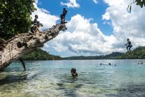 File photo of Nggela kids swimming in Solomon Islands