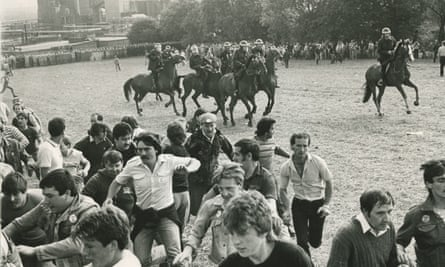 The confrontation on 18 June 1984 between riot police and striking miners.