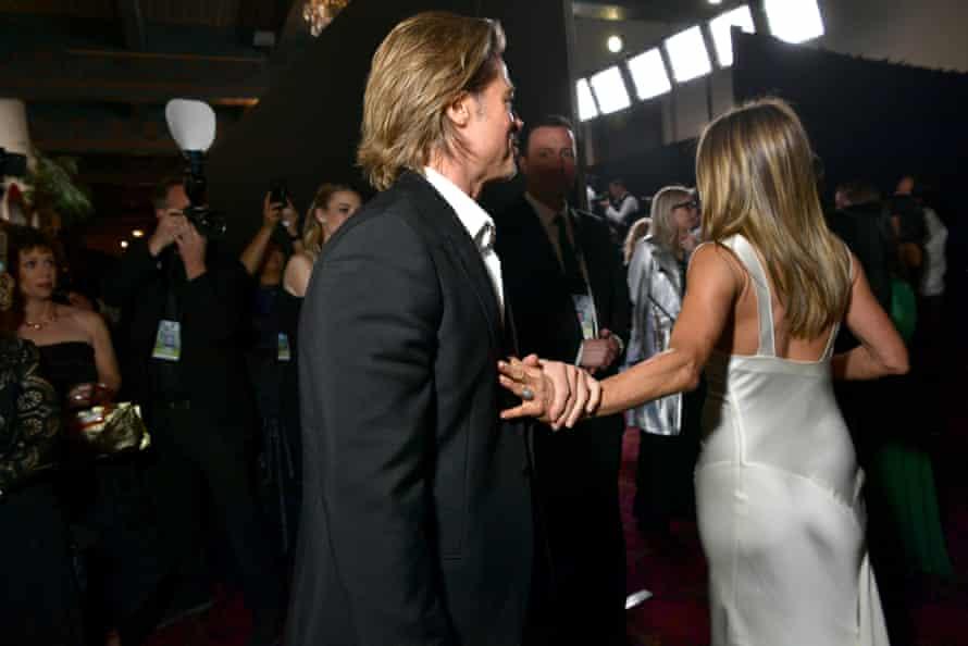 Brad Pitt and Jennifer Aniston at the SAG awards