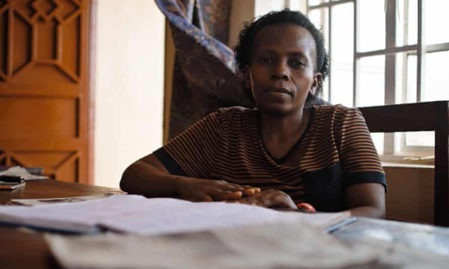 An Ebola survivor in Freetown, Sierra Leone