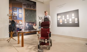 One of Stephen Hawking's wheelchairs up for sale in an online auction hosted by Christie's.