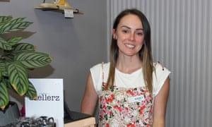 Kasey Hazelman in her shop, Love from Indie, in Kyabram, Victoria, Australia