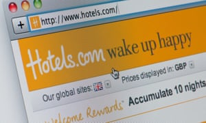 Close up of the Hotels.com logo as seen on its website