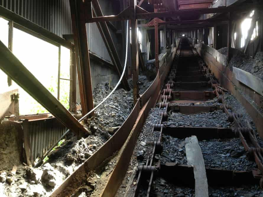 Inside the Huber Breaker, a coal breaker that shut down in 1975. The town of Ashley is still working to rebuild its economy four decades later.