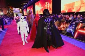 Darth Vader on the red carpet