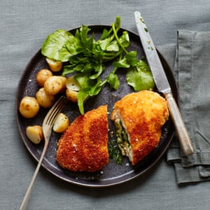 Thomasina Miers' wild garlic chicken kiev.