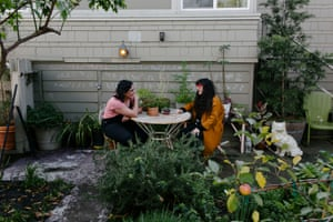 Samin Nosrat meets with a psychic in Oakland, Calif.